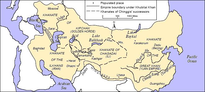 A New Khan Il Kahn Khanate Location World Map on