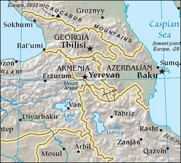 Map of Region around Armenia